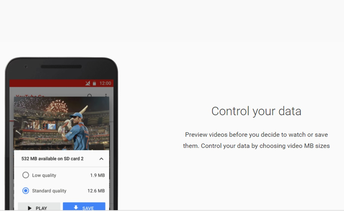 """YouTube Announces """"Go"""" App To Help Indian Users With Limited Data"""