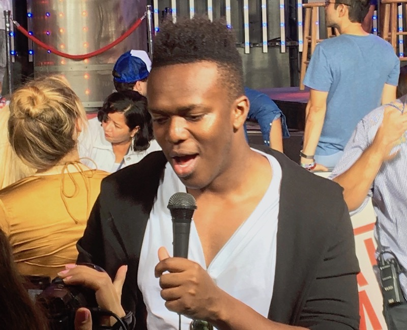 KSI on the red carpet talking about getting 'Laid In America' on the big screen.