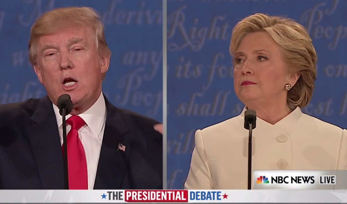 YouTube's Coverage Of Third Presidential Debate Drew 1.7 Million Concurrent Viewers At Its Peak