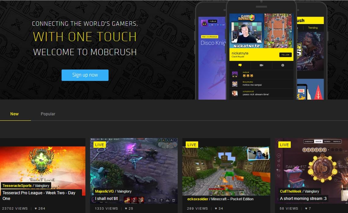 mobcrush-homepage