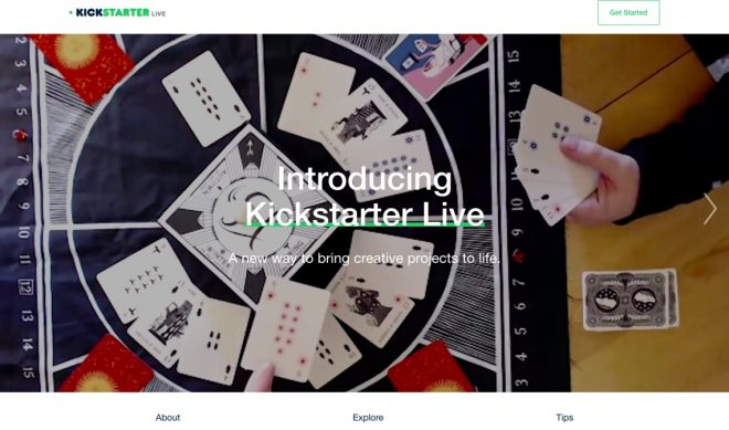 Kickstarter's New Feature Lets Its Users Live Stream Their Campaigns