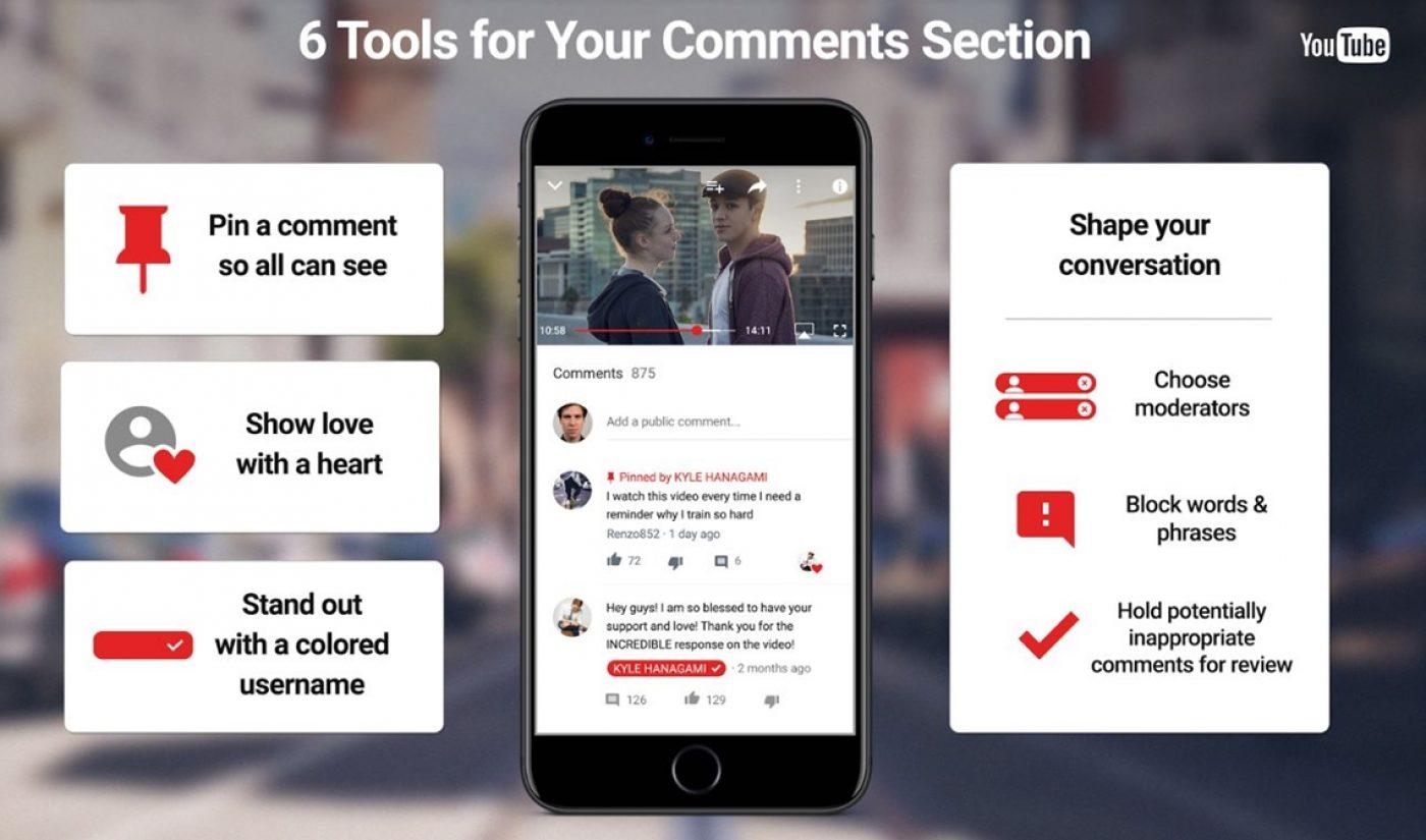YouTube Updates Comments, Announces Beta Test For Comment-Filtering Algorithm