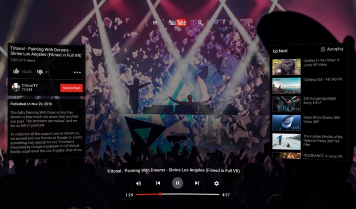 YouTube Launches VR App With Content From Meredith Foster, Rooster Teeth, Huffington Post