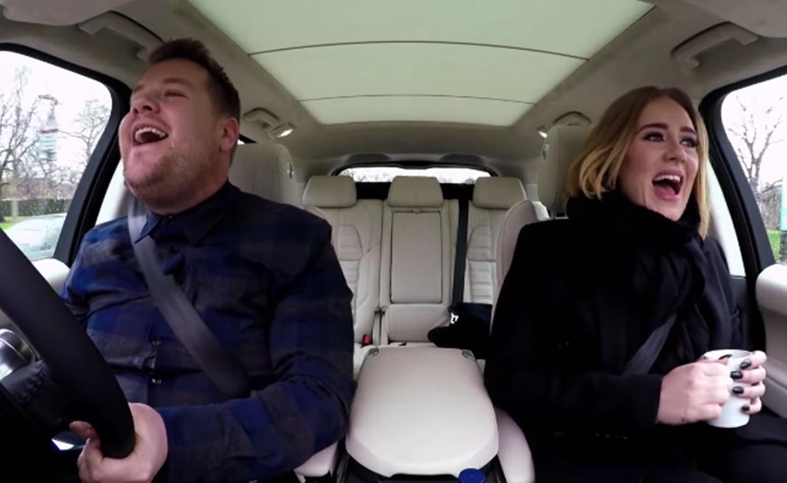 James corden s carpool karaoke with adele leads youtube for Car pool karaoke show