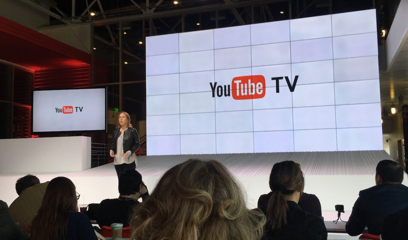 YouTube Reveals YouTube TV, A $35 Bundle Of Live TV Channels With Unlimited DVR