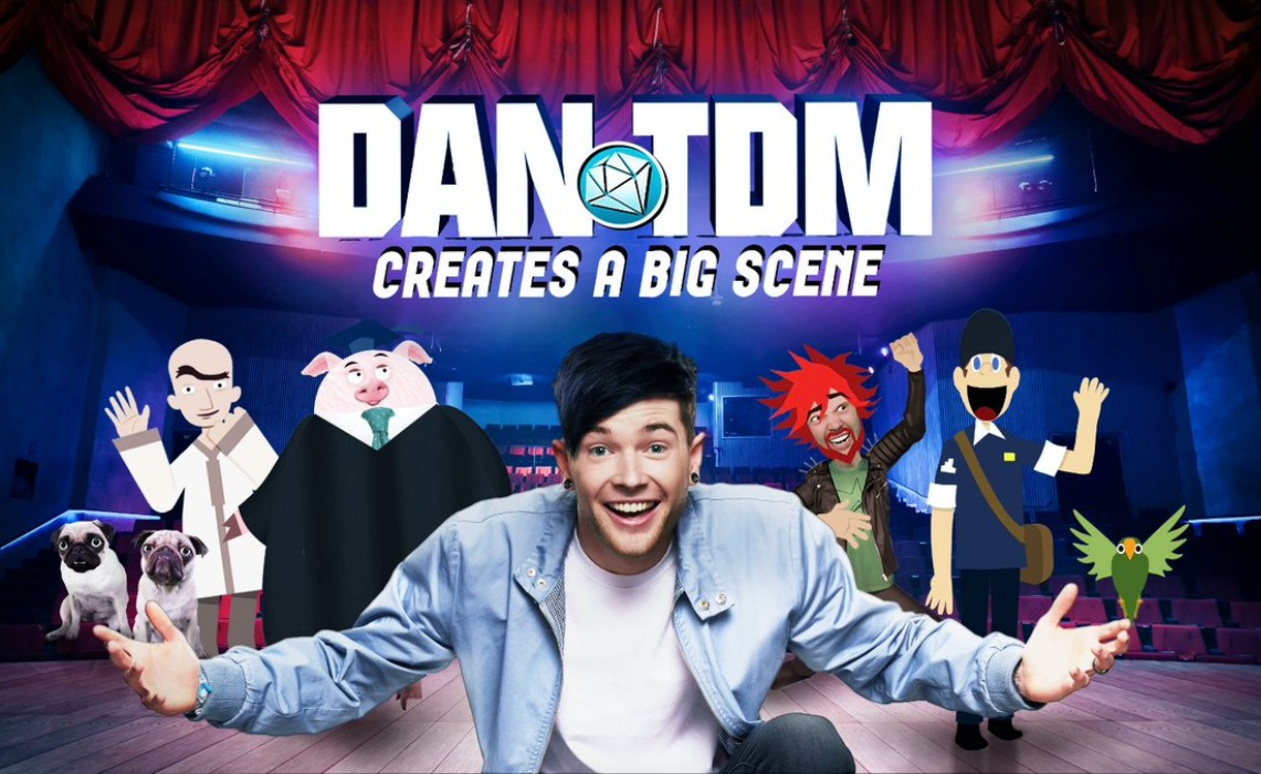 In trailer for dantdm 39 s youtube red series the show must for Dans youtube