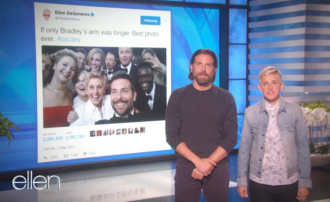 Ellen and Bradley Cooper