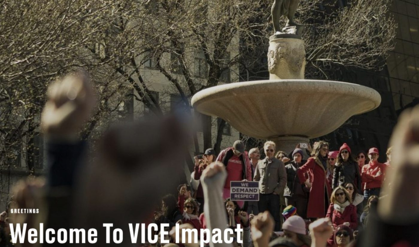 Vice Launches New Vertical Based Around Hot-Button Issues