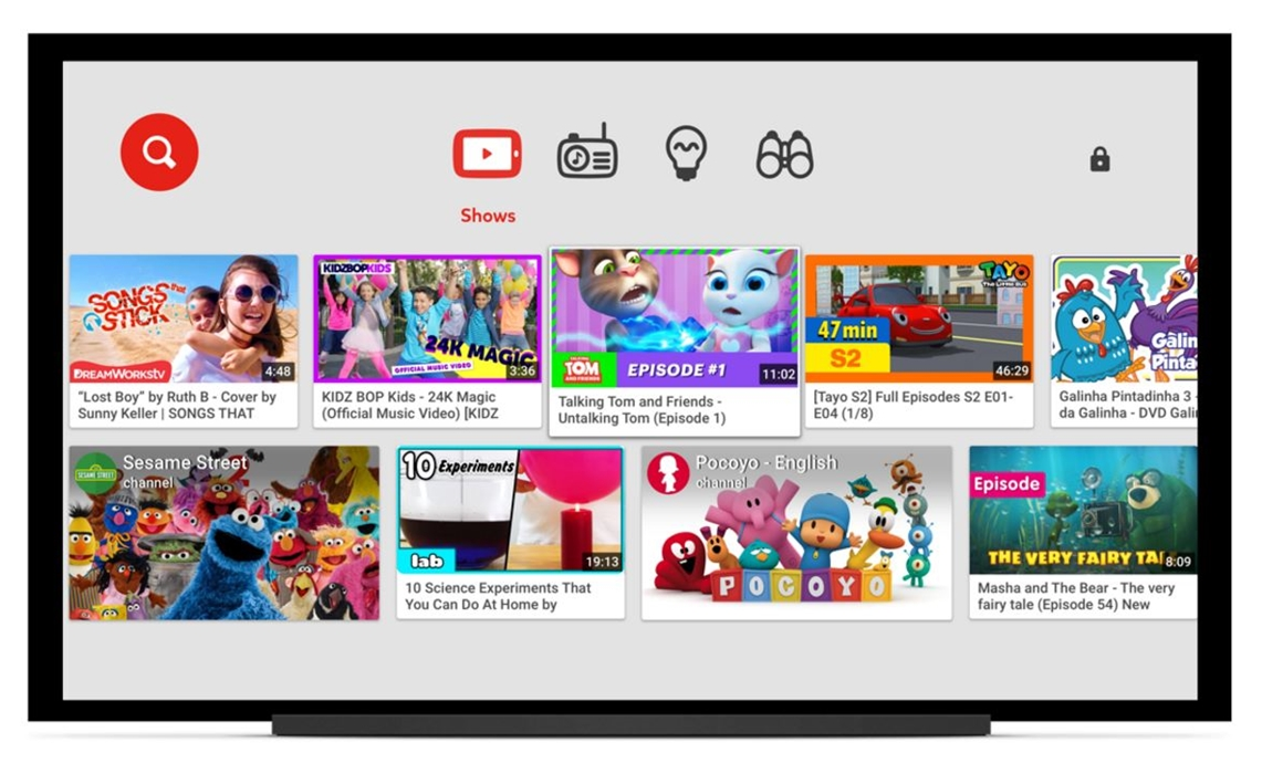 YouTube Kids Now Available On Smart TVs