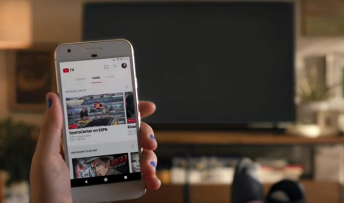 YouTube TV Launches In Five U.S. Markets With Month-Long Free Trials