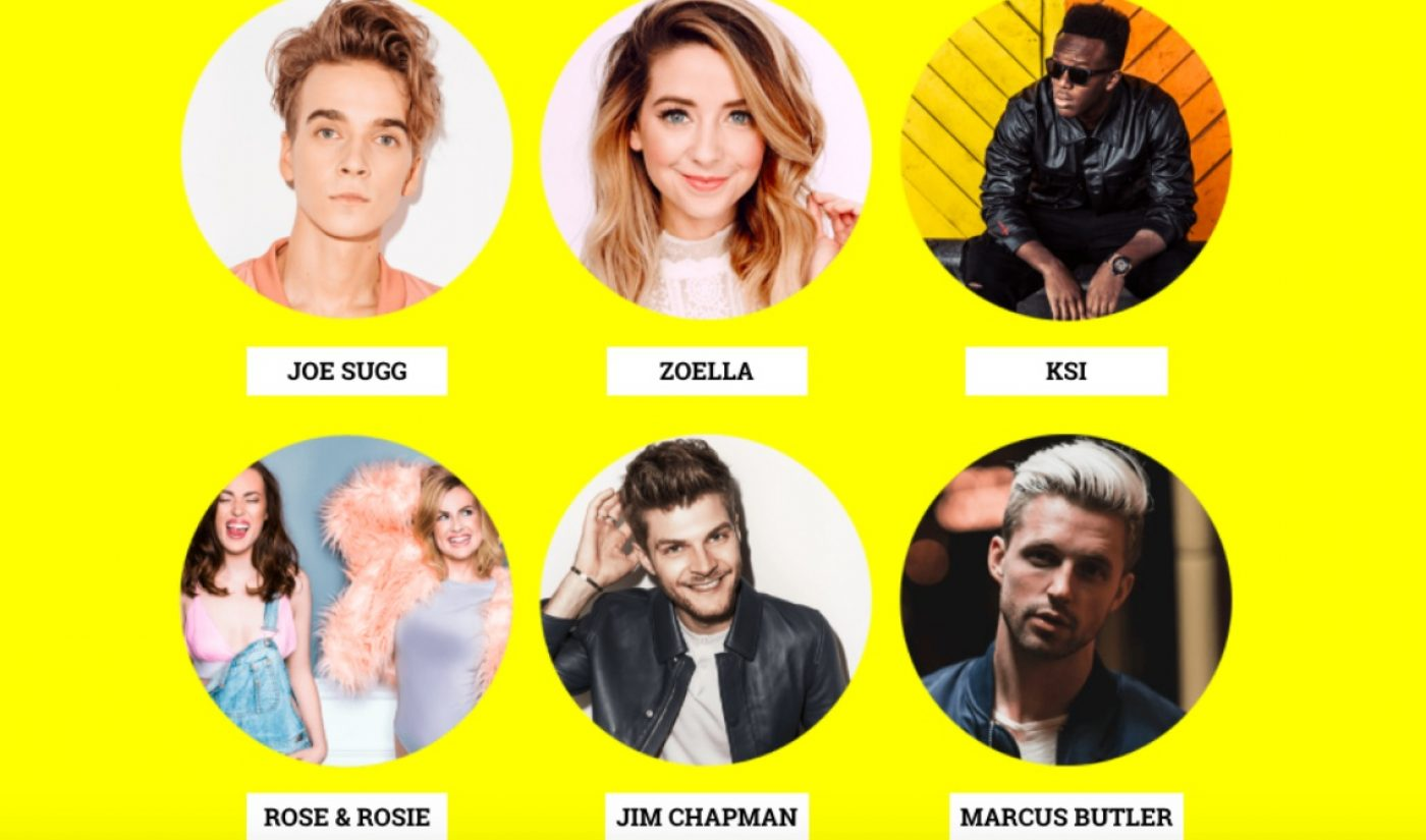 Caspar Lee, Zoella, KSI Among Headliners For Live Event Featuring UK's Top YouTube Stars