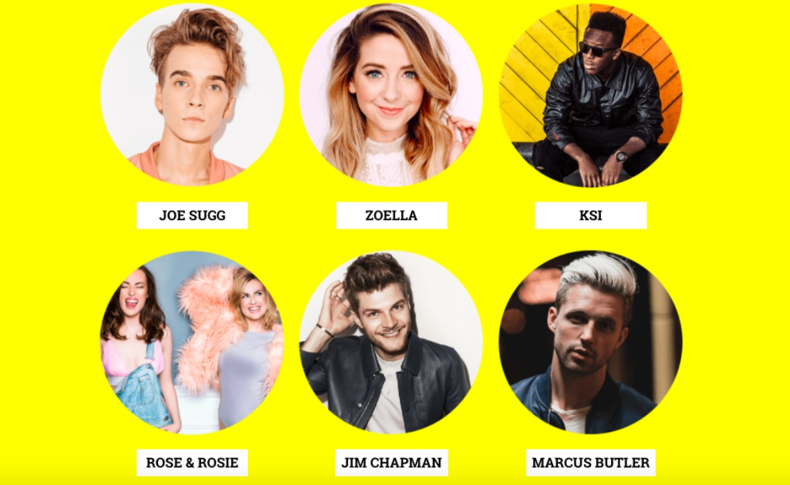 Caspar Lee Zoella Ksi Among Headliners For Live Event Featuring