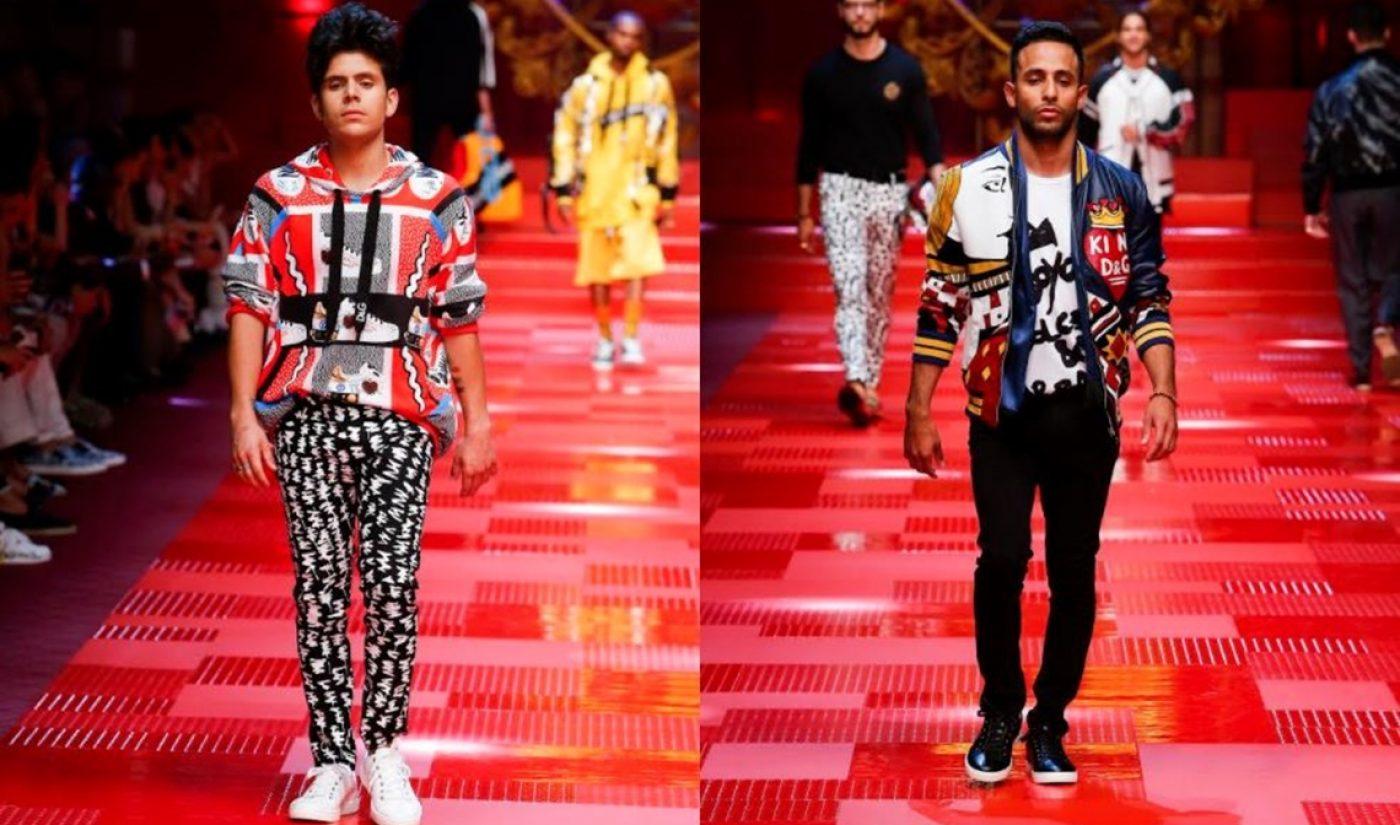 Rudy Mancuso, Anwar Jibawi, More Strut Runway At D&G Spring Menswear Show