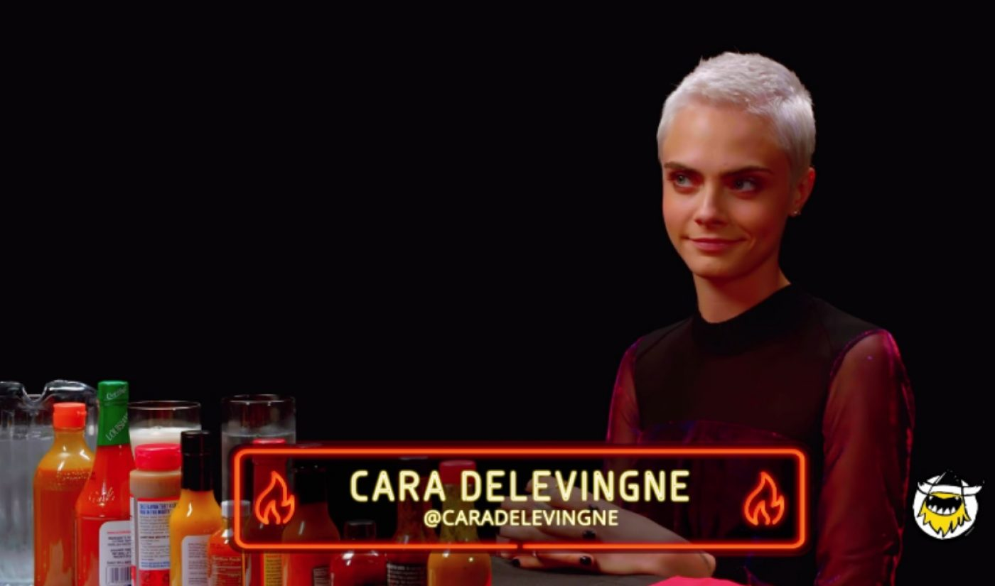 Cara Delevingne Guest Stars As 'Hot Ones' Launches Fourth Season Of Burning Questions