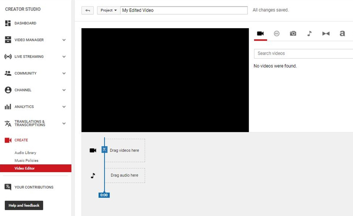 YouTube Shuttering Video Editor, Photo Slideshows