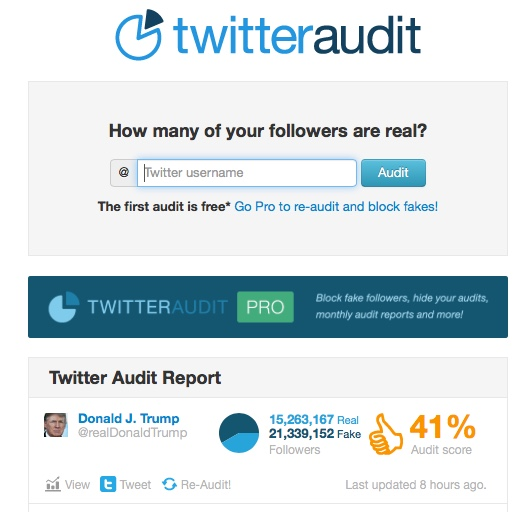 Twitter Audit Donald Trump