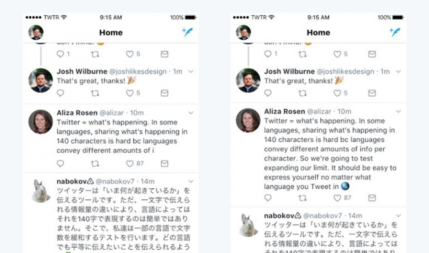 Twitter Testing New 280 Character Limit To Encourage More People To Tweet