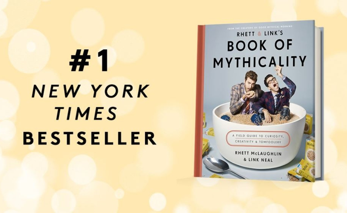 Rhett Link S Book Of Mythicality Debuts At Top New York Times Best Ers List