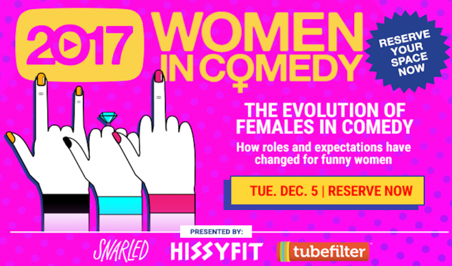 TONIGHT—Tubefilter Meetup: The Evolution Of Women In Comedy