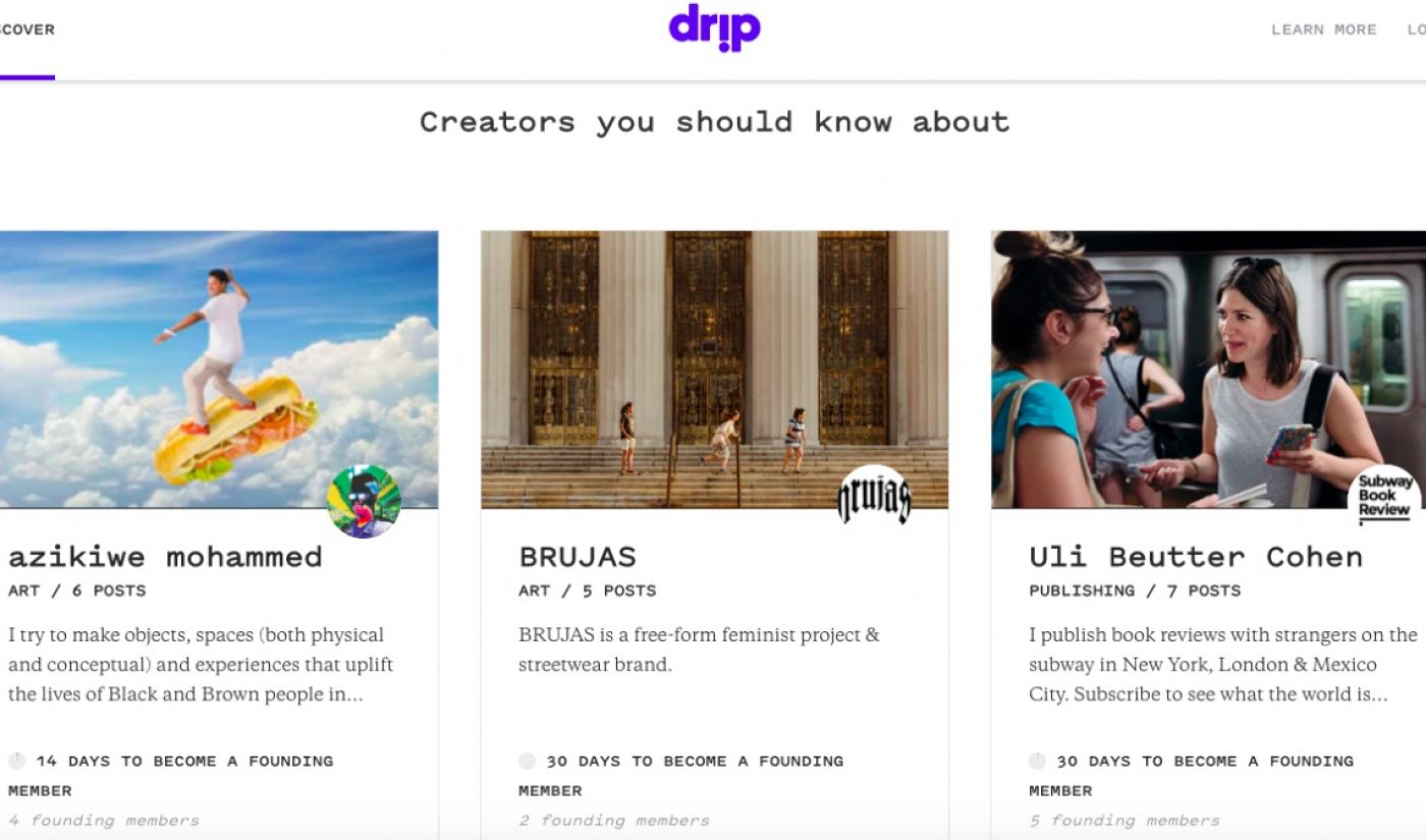 Kickstarter Looks To Compete With Patreon, Launches New Platform Called Drip