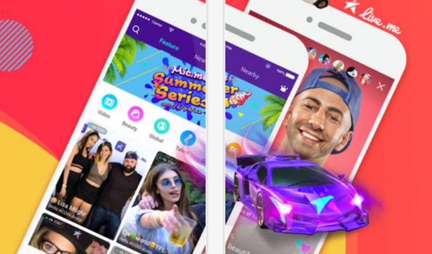 Live.me Snags $50 Million In Funding From Same Chinese Web Giant That Bought Musical.ly