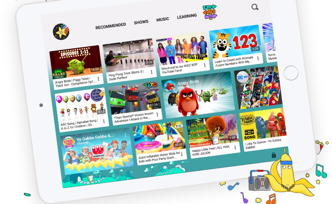 YouTube Kids App Updated with Kid Profiles, Dynamic UI