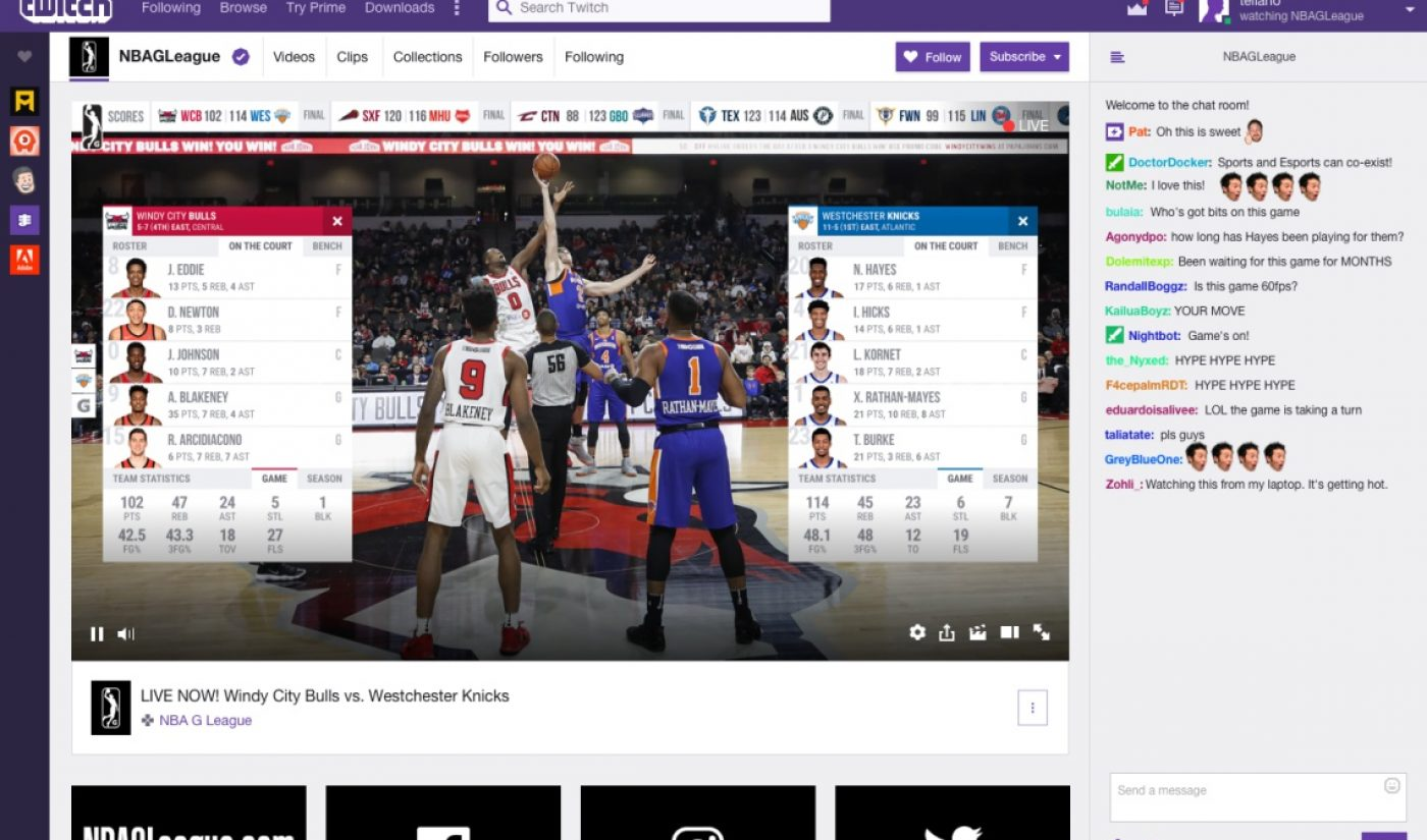Twitch To Broadcast The NBA's Second-Tier League With Its Streamers As Commentators