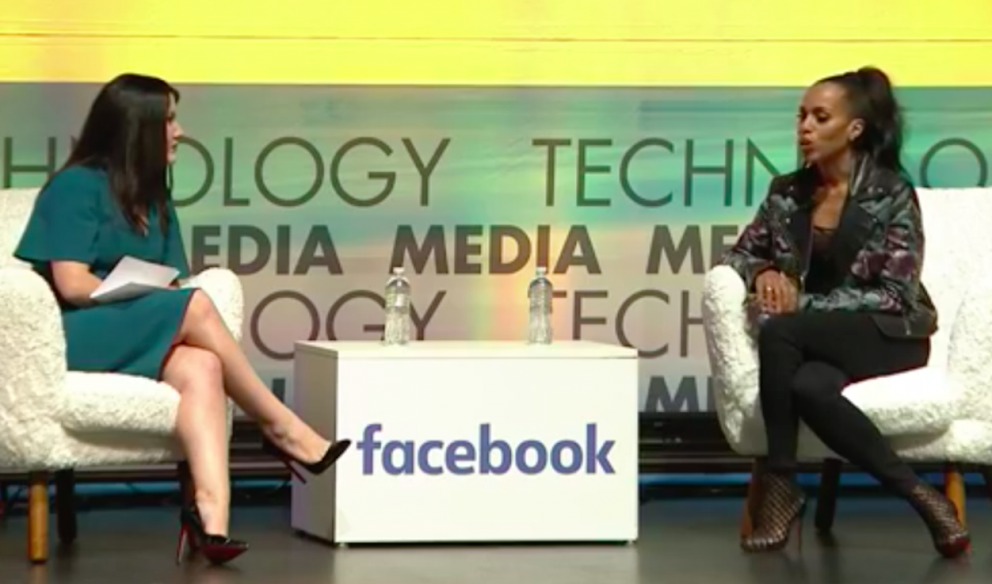 Why Kerry Washington Is Excited About Facebook Watch