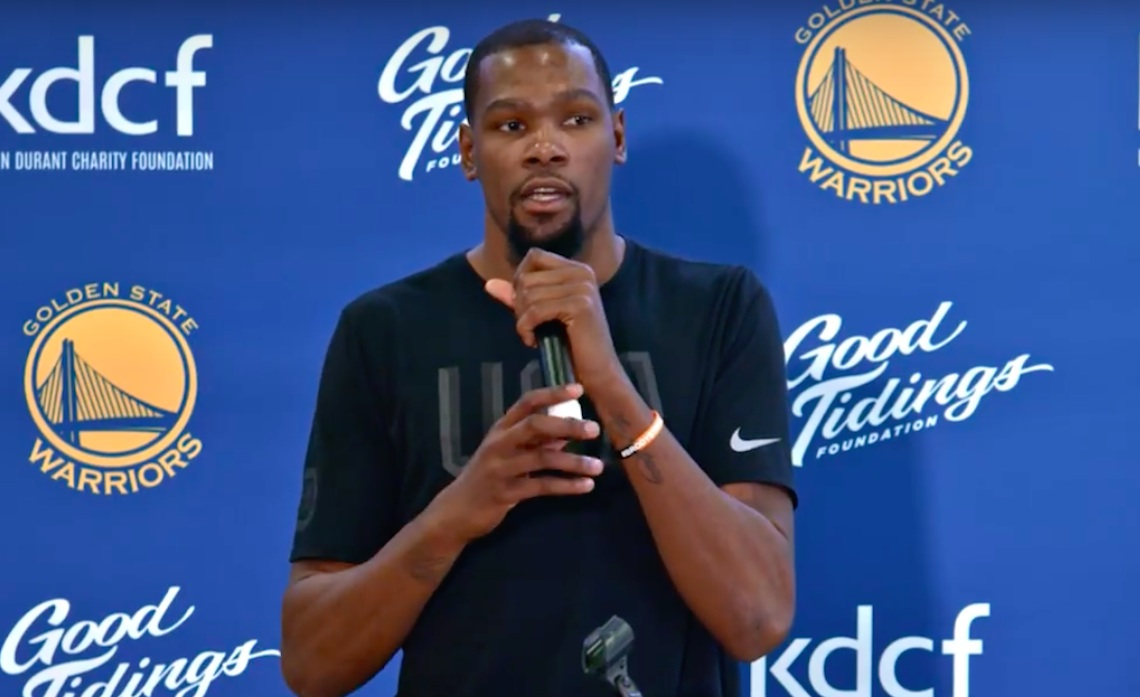 Apple is developing a drama series based on Kevin Durant's life