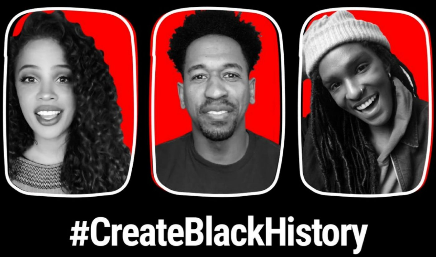 YouTube Uses Its Version Of Snapchat's Stories For Black History Month Campaign