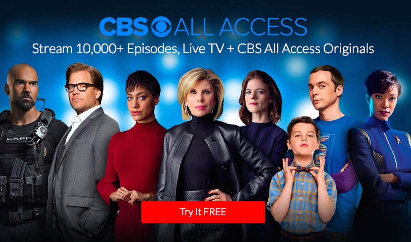 """CBS All Access Plans To Debut """"Six To Seven Originals"""" Over Next Year"""