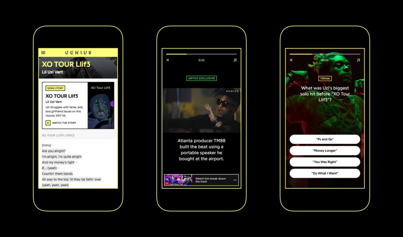 YouTube Helps Music App Genius Build A Stories Product Of Its Own