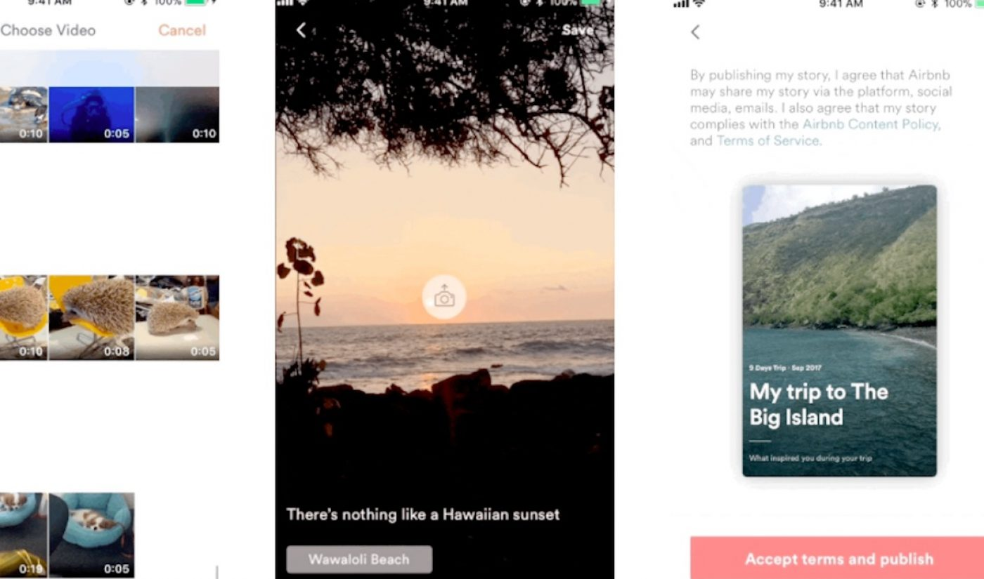 Airbnb Is Yet Another Company To Try Out Snapchat-Style 'Stories,' With Select Users