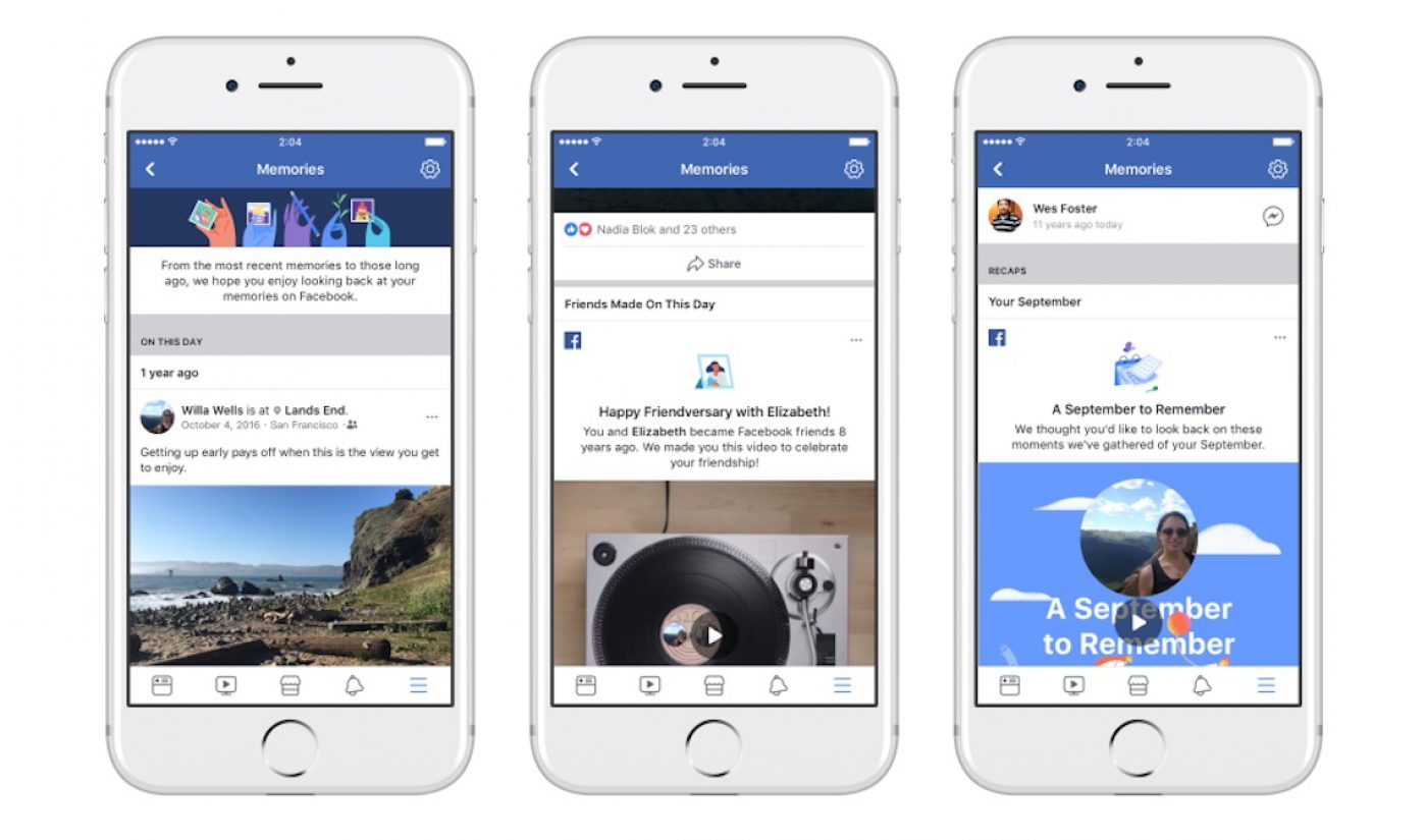 Facebook Announces New Feature That Aggregates Old Memories