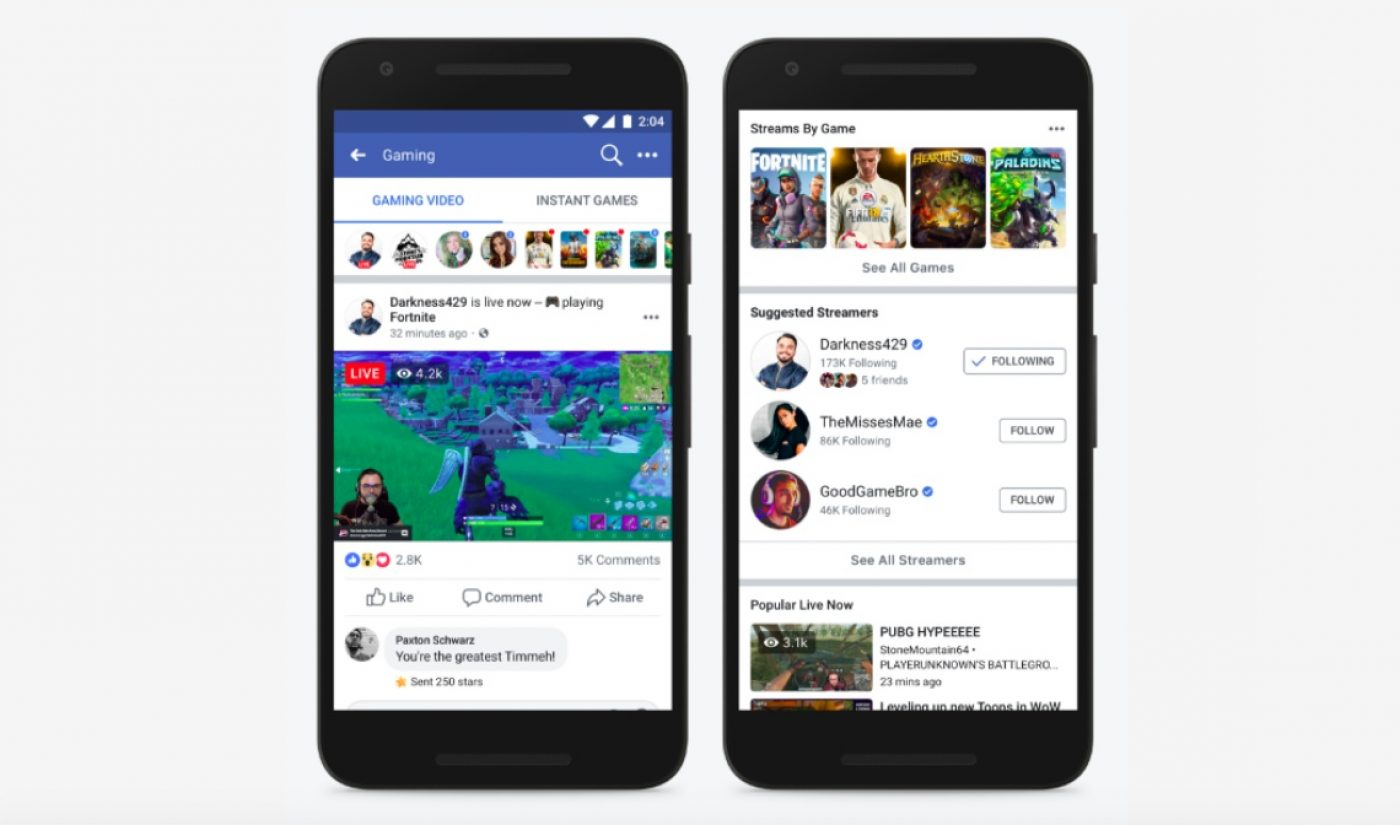 Facebook Is Launching A Video Destination Dedicated To Its Gaming Content