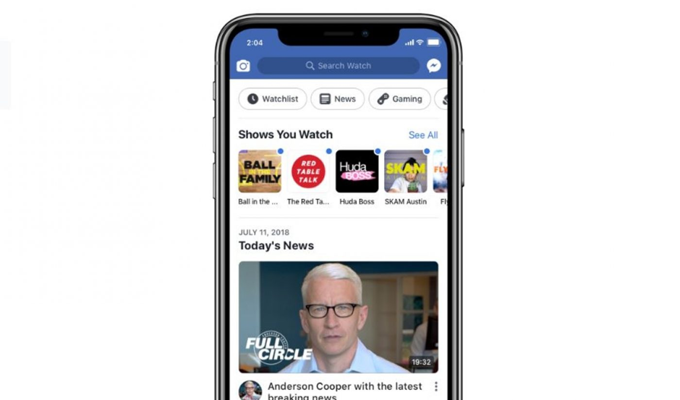 Facebook To Launch News Programming On July 16, Will Organize 'Watch' With New Categories