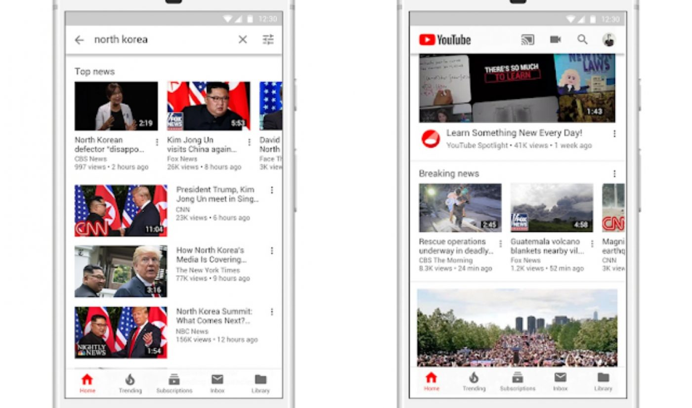 YouTube Pledges $25 Million To News Organizations As It Continues Fight Against Fake News