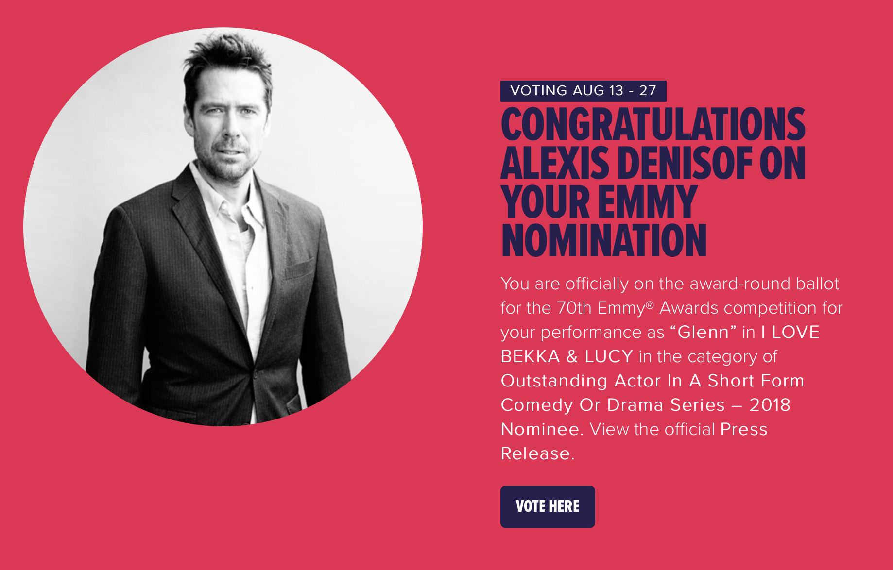 Stage 13 Emmy voting Alexis Denisof