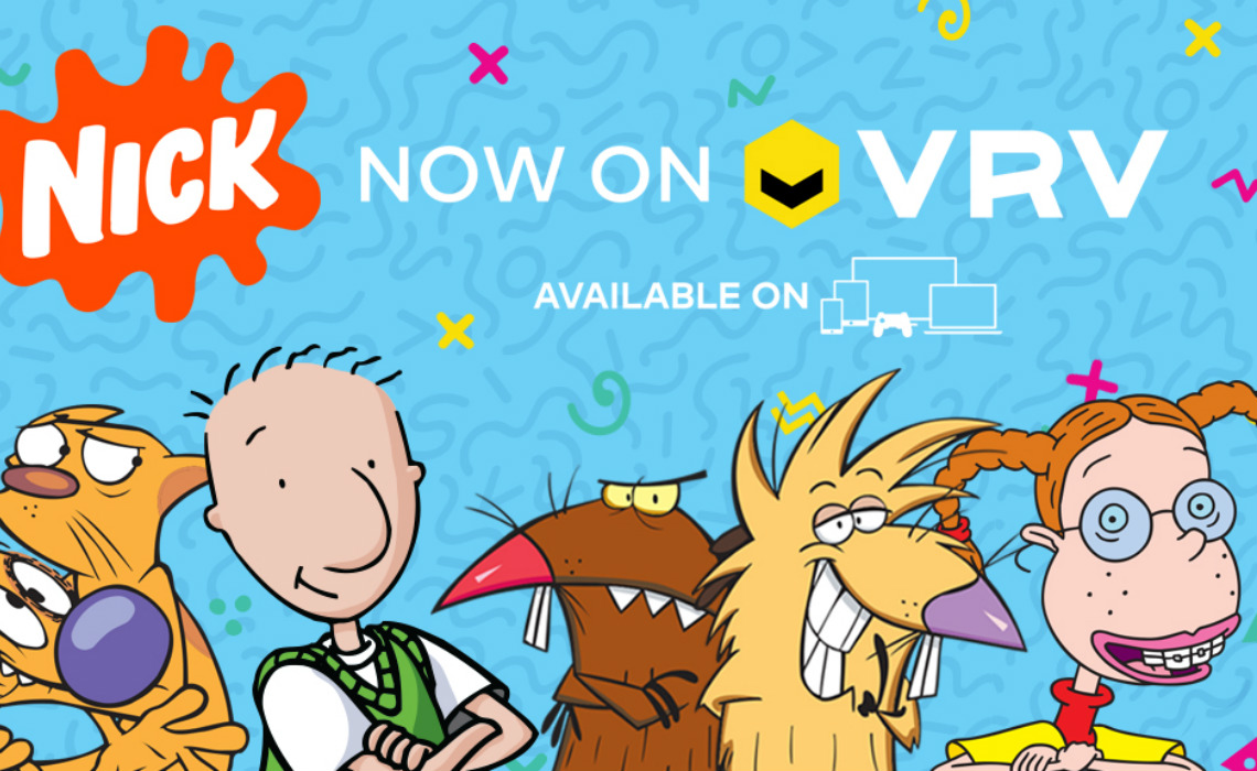 nickelodeon partners with vrv to launch streaming channel for