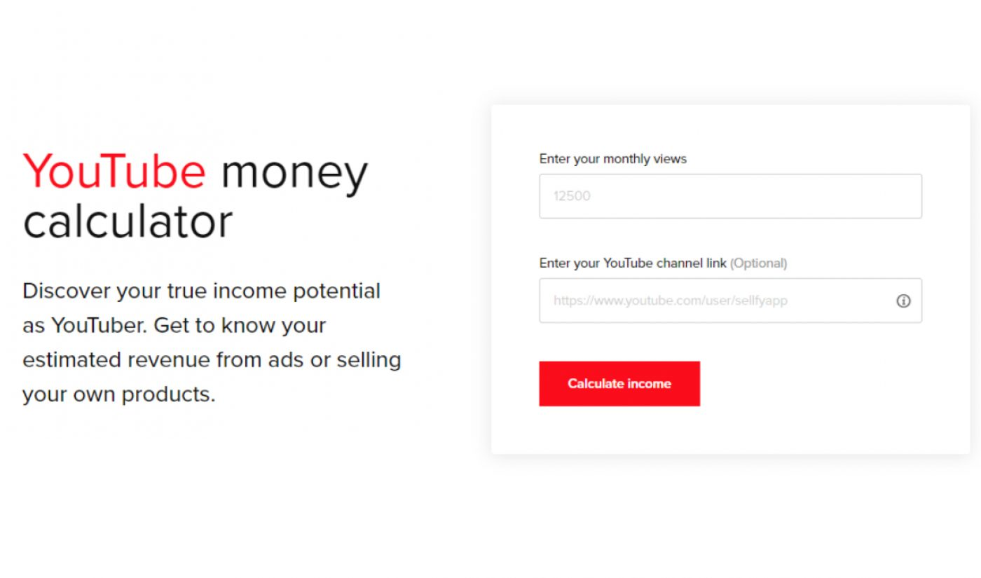 This Nifty Tool Estimates How Much Money YouTubers Can Make From AdSense Vs. Selling Merch