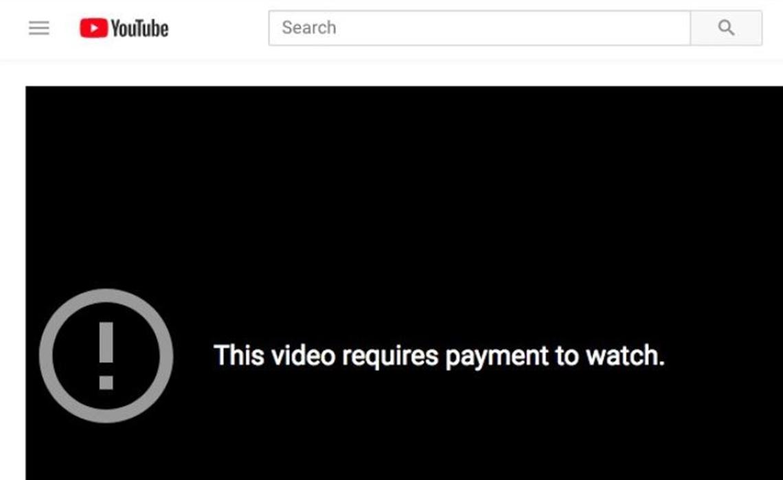 μαύρο βίντεο στο YouTube