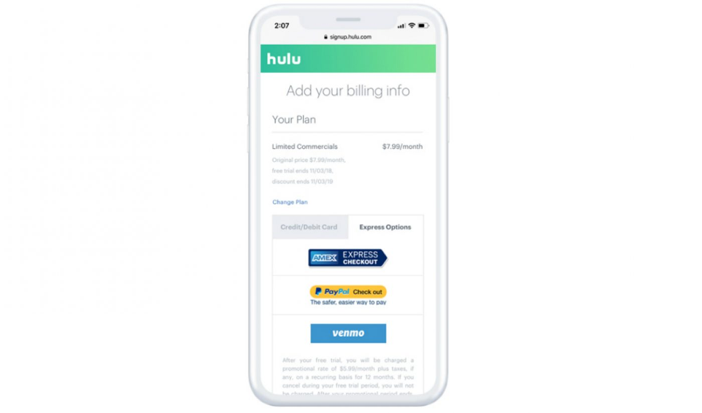 Hulu Becomes First Streaming Service To Accept Venmo Payments