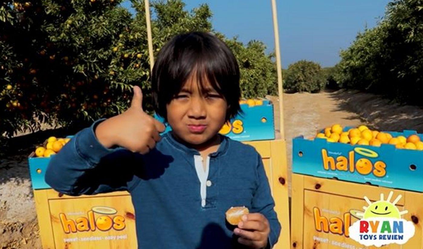 7-Year-Old Ryan ToysReview Unveils Sponsorship With Mandarin Orange Brand