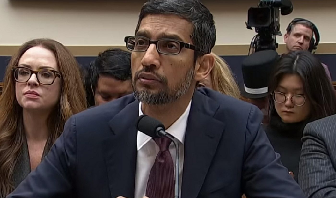 Google CEO Sundar Pichai Probed Over YouTube's Conspiracy Problem At Congressional Hearing