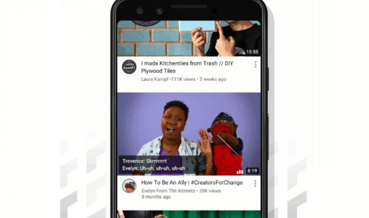 YouTube Aims To Boost Video Engagement With Home Feed Autoplay