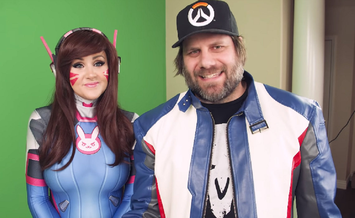 youtube millionaires creator couple screen team doles out a geeky smorgasbord from handmade cosplay to fortnite rap parodies - fortnite hit or miss parody