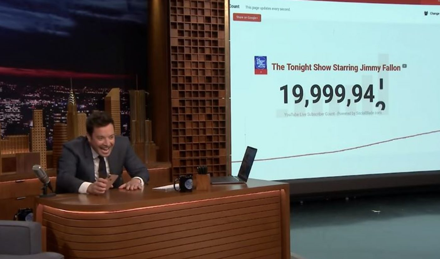 Jimmy Fallon Becomes First Late-Night Host To Hit 20 Million YouTube Subscribers