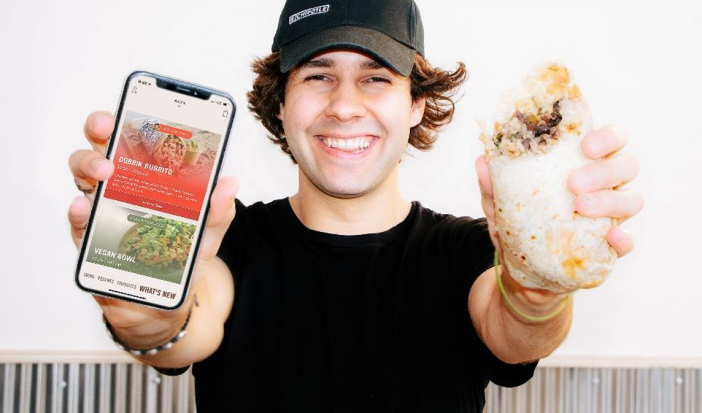 David Dobrik Wraps Up With Chipotle In Honor Of 'National Burrito Day'