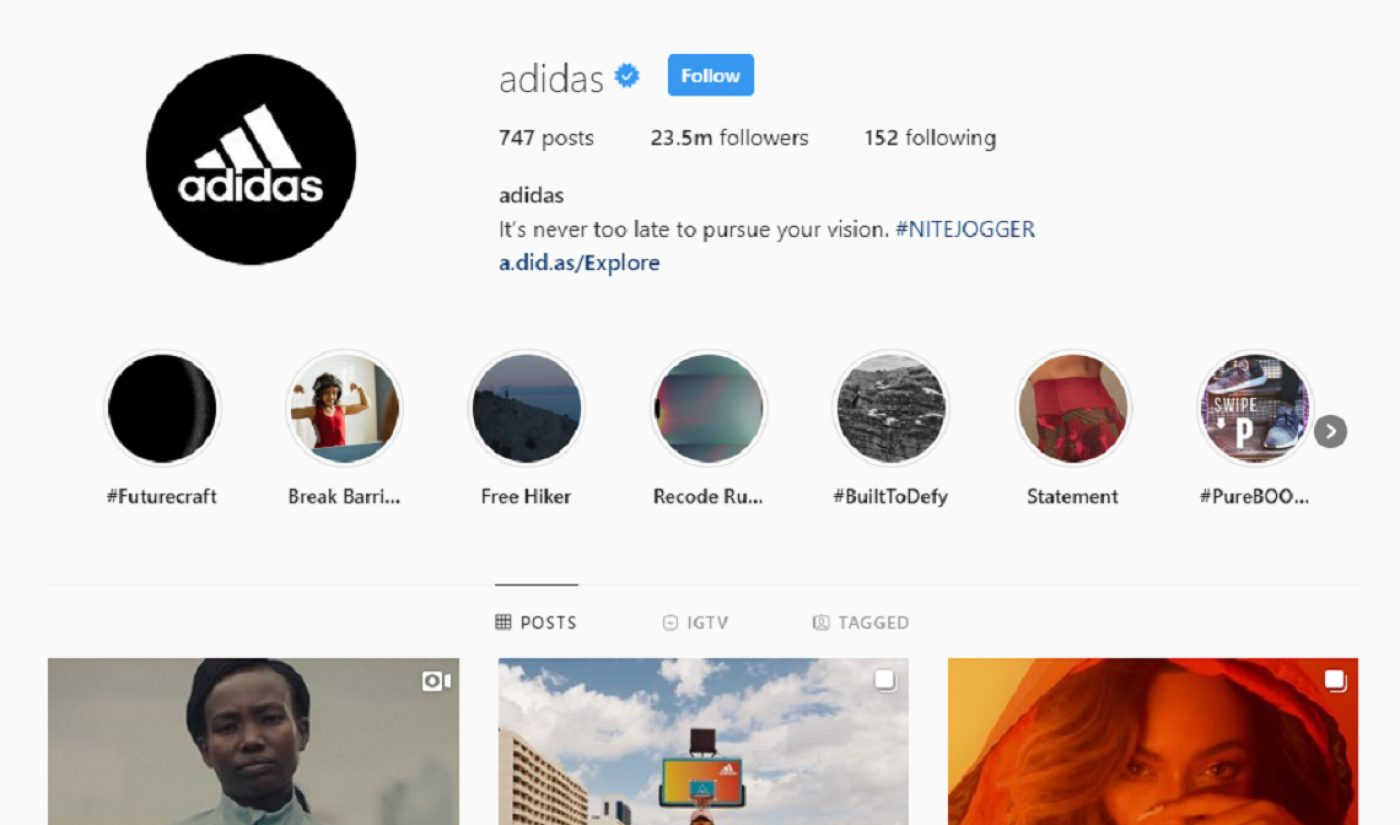 Instagram's In-App Shopping Feature 'Checkout' Helped Boost Adidas' Online Sales By 40%