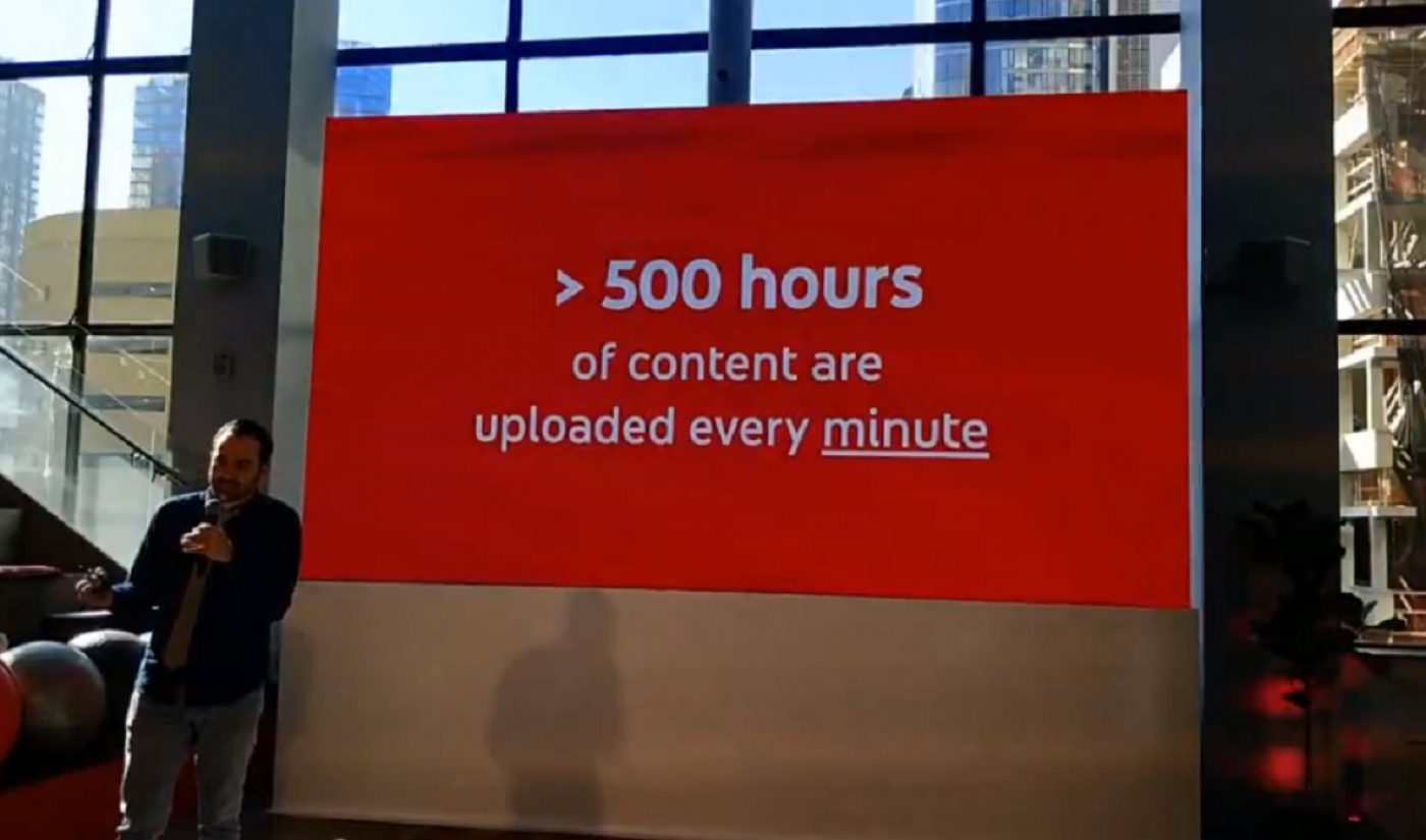 More Than 500 Hours Of Content Are Now Being Uploaded To YouTube Every Minute